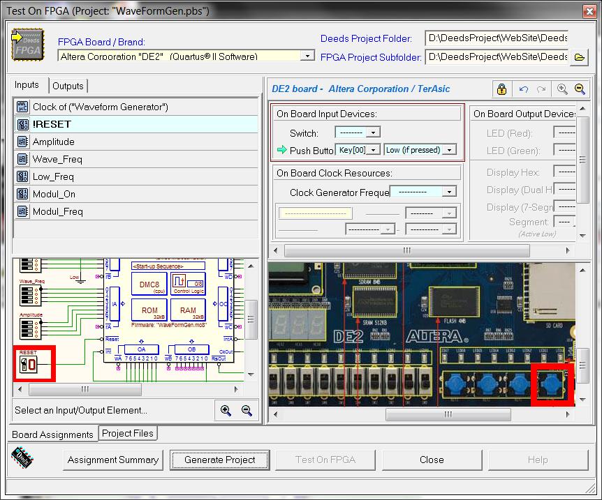 Deeds - Digital Waveform Generator, on FPGA [120080]