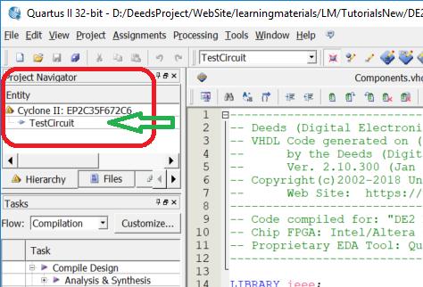 Deeds - Circuit Prototyping on Terasic/Altera DE2 Board