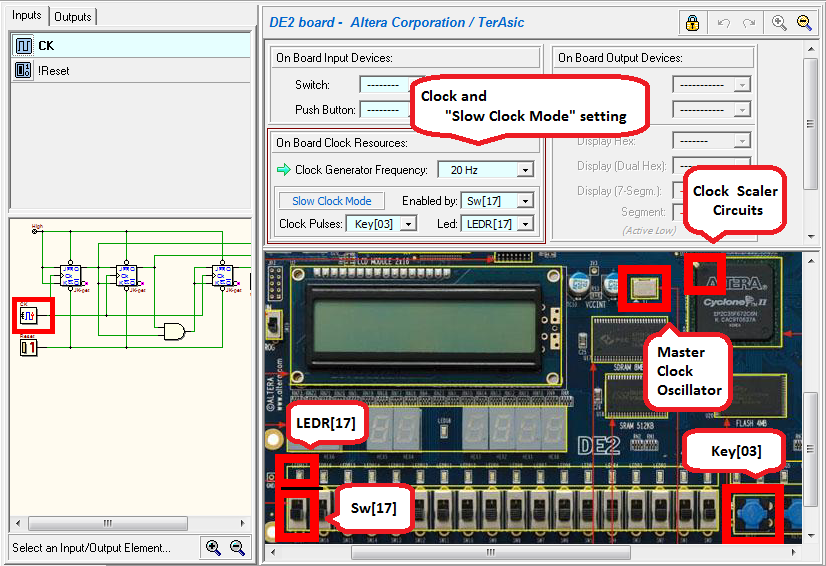 Deeds - Sequential Circuit Testing on Terasic/Altera DE2 Board